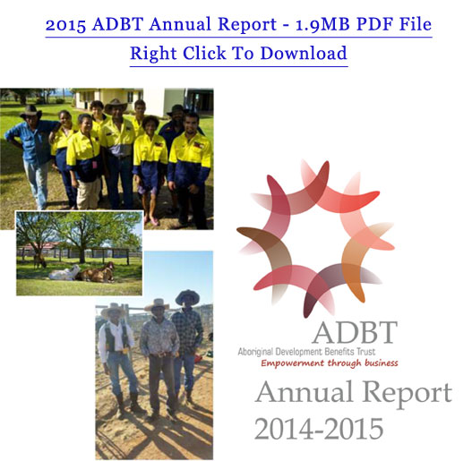 Click to download the 2015 ADBT Annual Report in PDF Format
